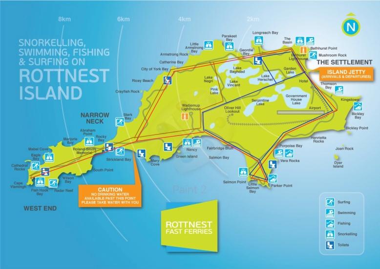 Rottnest-Island-Australie-Carte